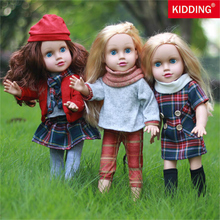 18inch/45cm Baby Girl Doll Toys with Clothes Handmade Reborn Doll Newborn Baby Toys with Soft Body for Girls Birthday Gifts new design 20 inches newborn baby doll imported mohair living doll cloth body toys for girls gift