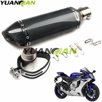 36 51mm Universal Motorcycle Exhaust Escape Moto Muffler Pipe With Removable for R1 R6 ZX CBR GSXR HONDA suzuki Yamaha Kawasaki