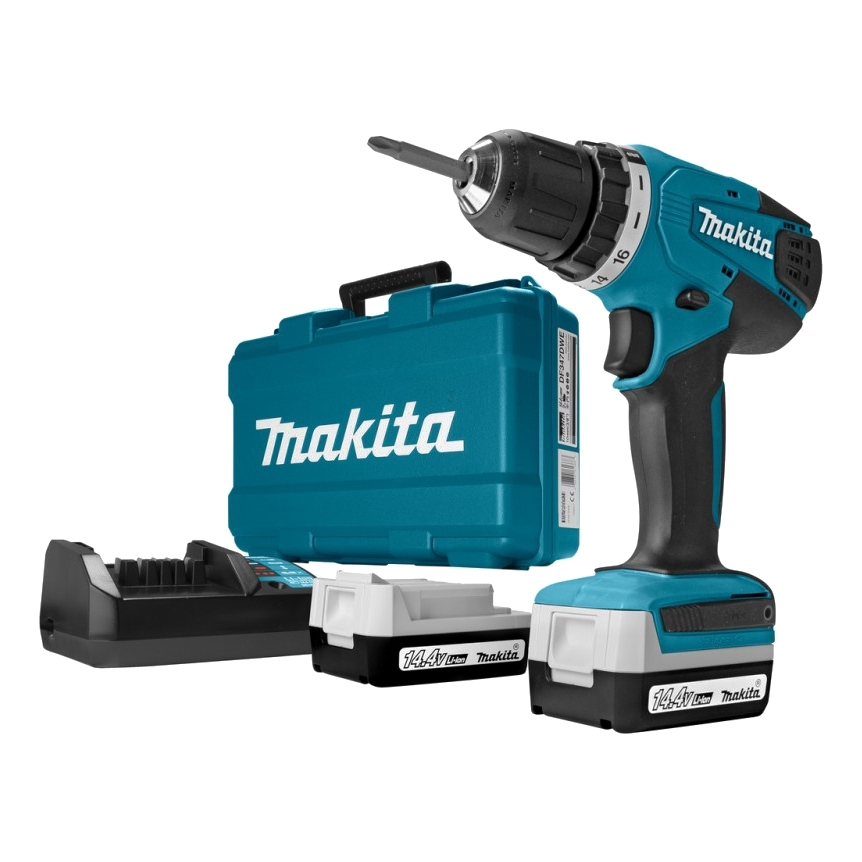 Drill electric screwdriver rechargeable Makita DF347DWE (Battery 14.4В, 2 speed, double insulation, case) safetypacking level4 5pcs rechargeable lipo battery cell 3 7 v 8873130 10000 mah tablet battery brand tablet gm lithium polymer