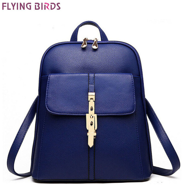 FLYING BIRDS Mochila women Backpacks Famous Brands Fashion Lady Leather  Backpack School Backpacks For Teenage Girls 9c2f8414b81d3