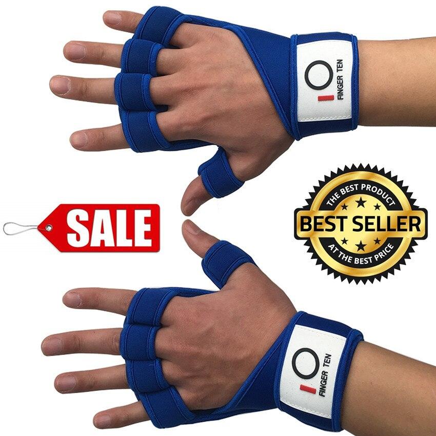 Fitness Gloves Half Finger Men's Pair Weight Lifting Gloves Belt Gym Sports Heavyweight Body Building Wrist Protection Women