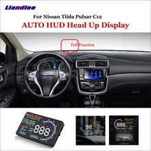 Liandlee Car Head Up Display HUD For Nissan Tiida Pulsar C12 2011-2018  Dynamic Driving Computer HD Projector Screen Detector