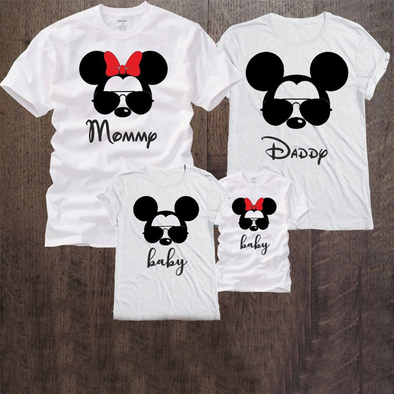 mommy and me tshirt cartoon tee cute print clothes baby girl clothes summer kids 2019 toddler girl shirt fashion cotton
