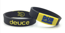 4pcs/lot New arrival fashion jewelry deuce dub antion power bangle silicone balance wristband energy  bracelet