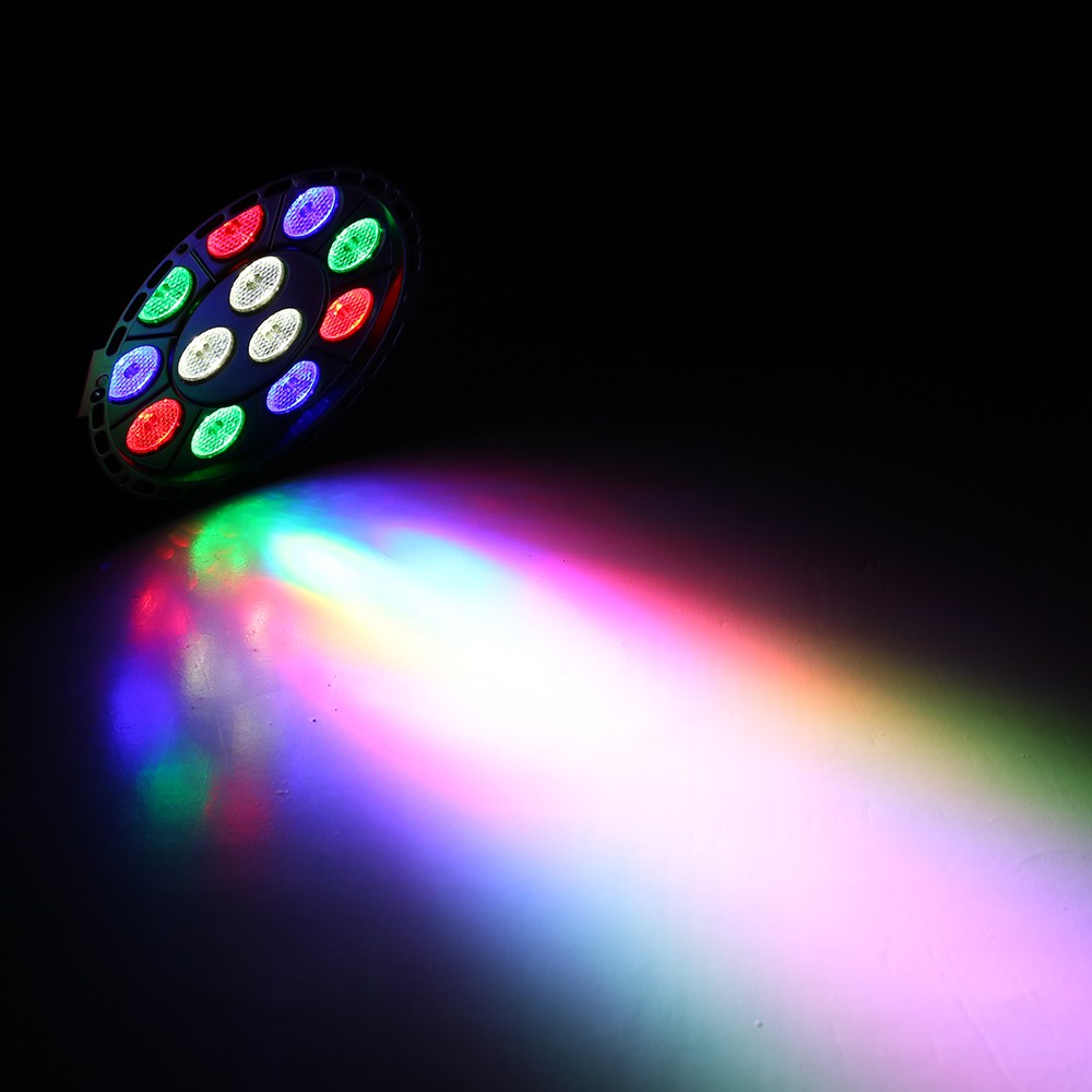 12 LED Par Stage Light 12W LED RGBW DMX 512 Dream Color Light for Club DJ Show Home Party Ballroom Bands RGBW/UV