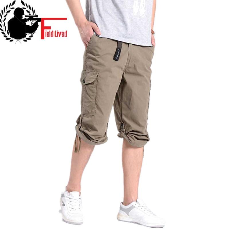 2019 Summer Combat Men Cargo Shorts Plus Size XXXL 4XL 5XL 7XL 6XL Casual Man Army Green Baggy Losse Pockets Long Shorts Male