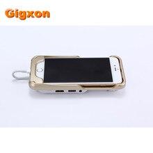 Gigxon-i60 + más nuevo teléfono móvil proyector de cine projektor dlp pico proyector led beamer projetor práctico para iphone 6 series