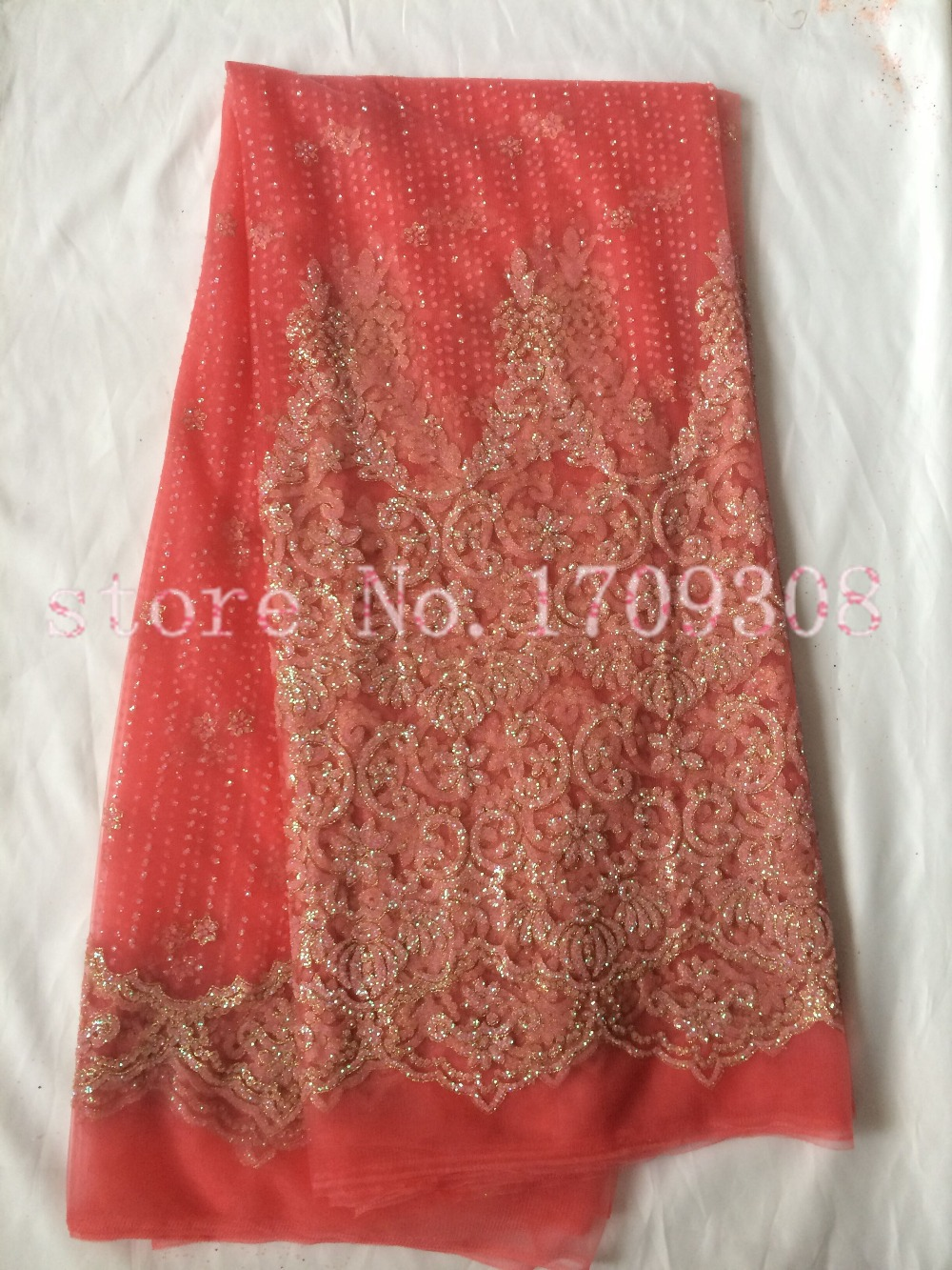 Nice looking french embroidered lace fabric tull net lace fabric