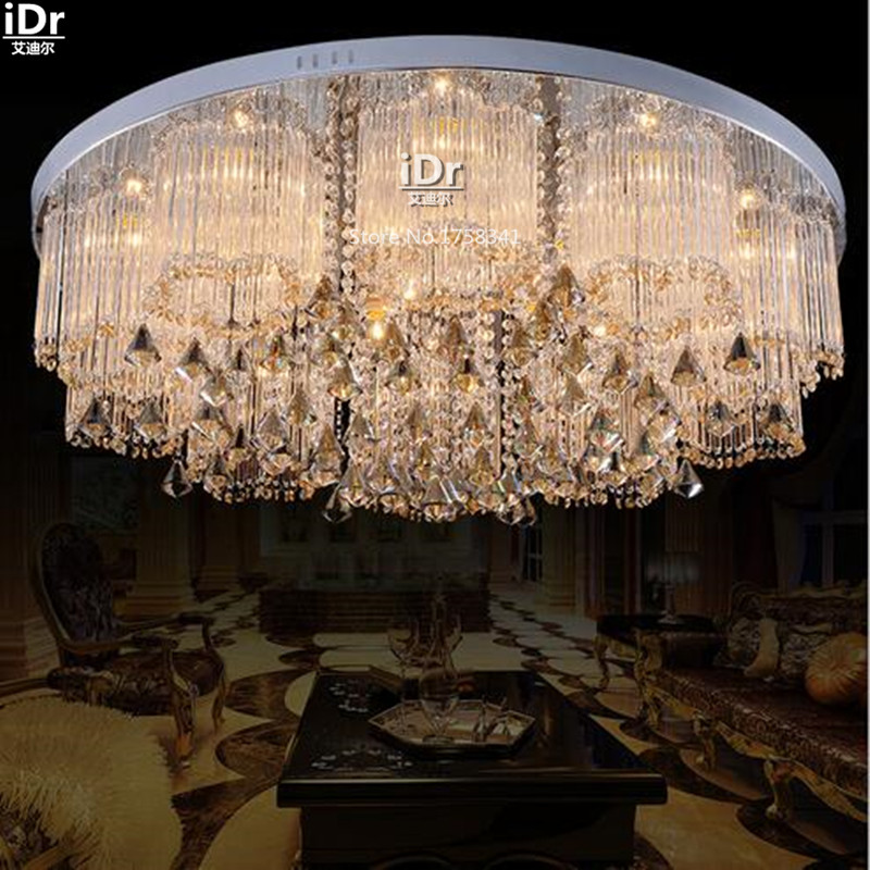 Stylish atmosphere crystal ring crystal lamp living room lamps hotel bedroom lamp Ceiling Lights wwy-0114 british snooker billiard lamp senior clubs casino card room lamp cradle pendant lights wwy 0431
