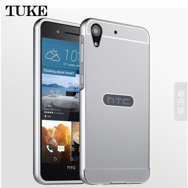 designer fashion d0967 9fc60 US $4.54 |728 Ultra thin 2 in 1 Arc Aluminum Metal Frame + Acrylic Back  Cover Case For HTC Desire 728G 728 phone Covers Protective Cases-in Fitted  ...