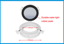 147mm Marine Boat Yacht RV Porthole ABS Plastic Round Hatches Port Lights Replacement Windows Port Hole Opening Portlight