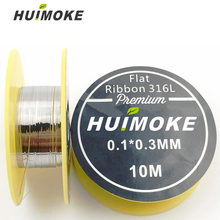 Heating Wire SS 316L Flat Ribbon heating wire 10m/roll for RDA RBA Rebuildable Atomizer Coil Heating Wires DIY Tool Kit цена