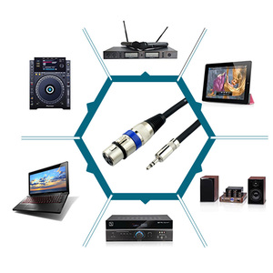 Image 5 - 3.5 มม.1/8 นิ้วแจ็ค XLR 3P ชายอะแดปเตอร์เสียงสาย XLR 3PIN สเตอริโอลำโพงหูฟังไมโครโฟน 0.5 M 30 M