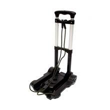 Carro de viaje portátil plegable de Metal, carro de equipaje ajustable para el hogar con rueda, envío fijo, suministros de accesorios
