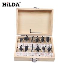 Hilda 12 шт. маршрутизатор набор бит 8 мм хвостовиком из карбида вольфрама роторный Инструмент С Вуд Case Окне Для Деревообрабатывающие Станки резак
