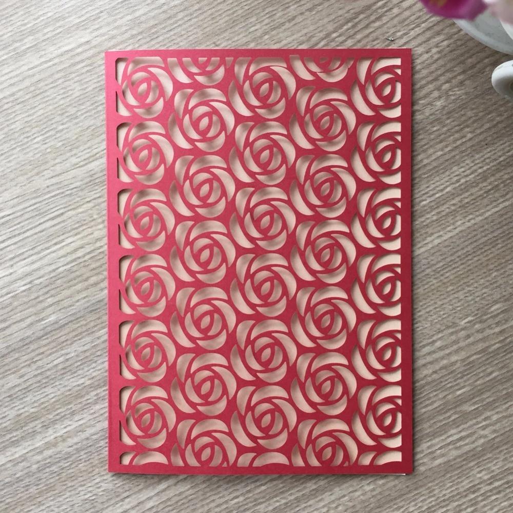 50Pcs/lot Laser Cut White elegant Pattern Elegant Flower style ...