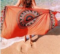 Orange zonnebloem handdoek strand deken zomer zwemmen vierkante beachwear yoga mat tapestry cover ups 150x100 cm