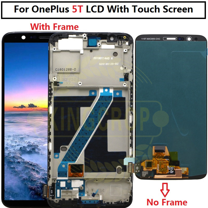"""Oneplus 5T LCD écran tactile avec cadre Teste bon 6.01 """"numériseur assemblée remplacement accessoire pour un plus 5t-in Écrans LCD téléphone portable from Téléphones portables et télécommunications on AliExpress - 11.11_Double 11_Singles' Day 1"""