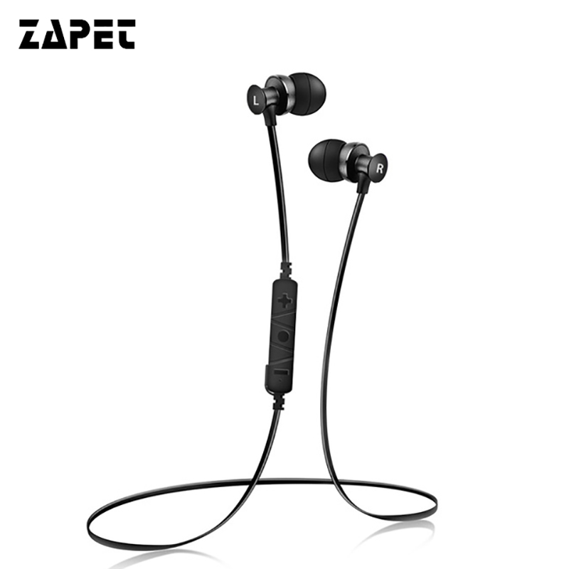 ZAPET Waterproof  Wireless Bass Neckband Headphone Stereo Earphone Fone de ouvido with HD Mic for Phone Bluetooth V4.2 rock y10 stereo headphone earphone microphone stereo bass wired headset for music computer game with mic