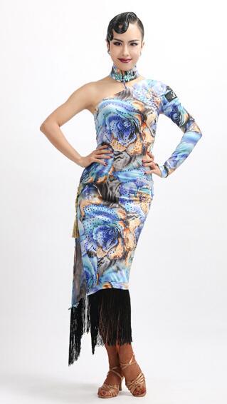 New customize custom chinese qi pao Rumba cha cha salsa tango Latin dance competition dress party dress