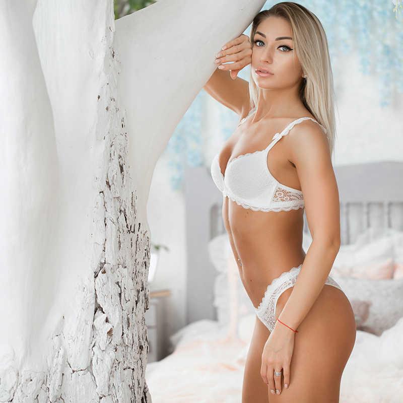 VS бренд 2019 новый сексуальный комплект нижнего белья без косточек женское кружевное белье отжимать Bralette удобный бюстгальтер и трусики наборы