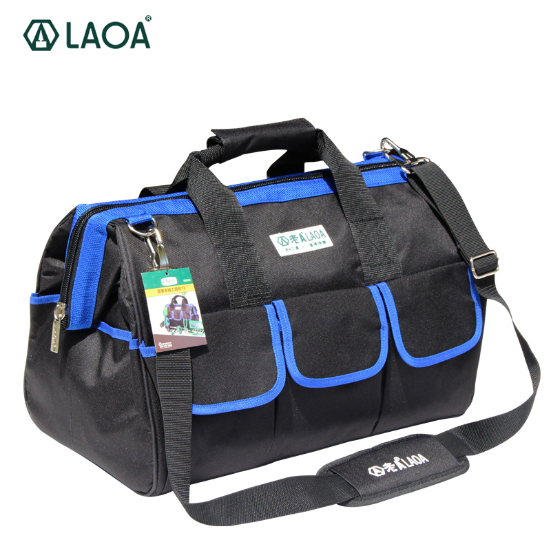1pcs LAOA 600D Tool bag Electrician Large capacity Repair tool kit water proof bags storage for Electricians Tools laoa shoulders backpack tool bag multiction oxford fabric electrician bags knapsack for eletricista tools storage