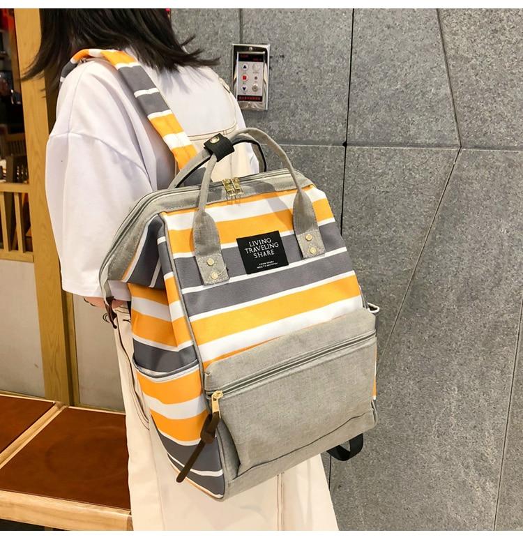 HTB13U67UbvpK1RjSZPiq6zmwXXaa 2019 Korean Style Women Backpack Canvas Travel Bag Mini Shoulder Bag For Teenage Girl School Bag Bagpack Rucksack Knapsack