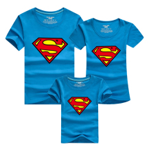 T-shirt boy superman summer short sleeve t shirt kids boys brand high quality cotton boys clothes 2016 NFN103