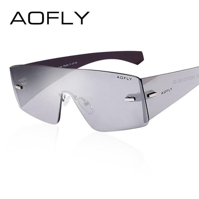 AOFLY Fashion Brand Cool Sunglasses Women Sun Glasses Rimless Sunglasses Mirror Glasses women Goggles Occhiali da sole UVA/UVB