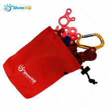 10PCS 16*14cm  Storage Bag Outdoor Camp Hiking Wind Rope Buckle Bag Tent Wind Stopper Rope Wigwam Buckle Hanging Bag 032