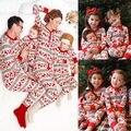 Женщины Взрослые Дети Рождество Семья Соответствия Олень Пижамы Пижамы Пижамы Установить