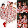Women Adult Kids Christmas Family Matching Deer Sleepwear Nightwear Pajamas Set