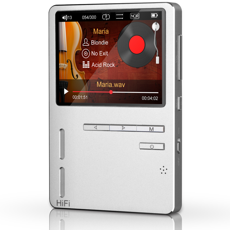 HiFi MP3 Player ONN X6 High Resolution Audio Player with HD Screen FM Bass Speaker Support APE/FLAC/ALAC/WAV/WMA/OGG/MP3