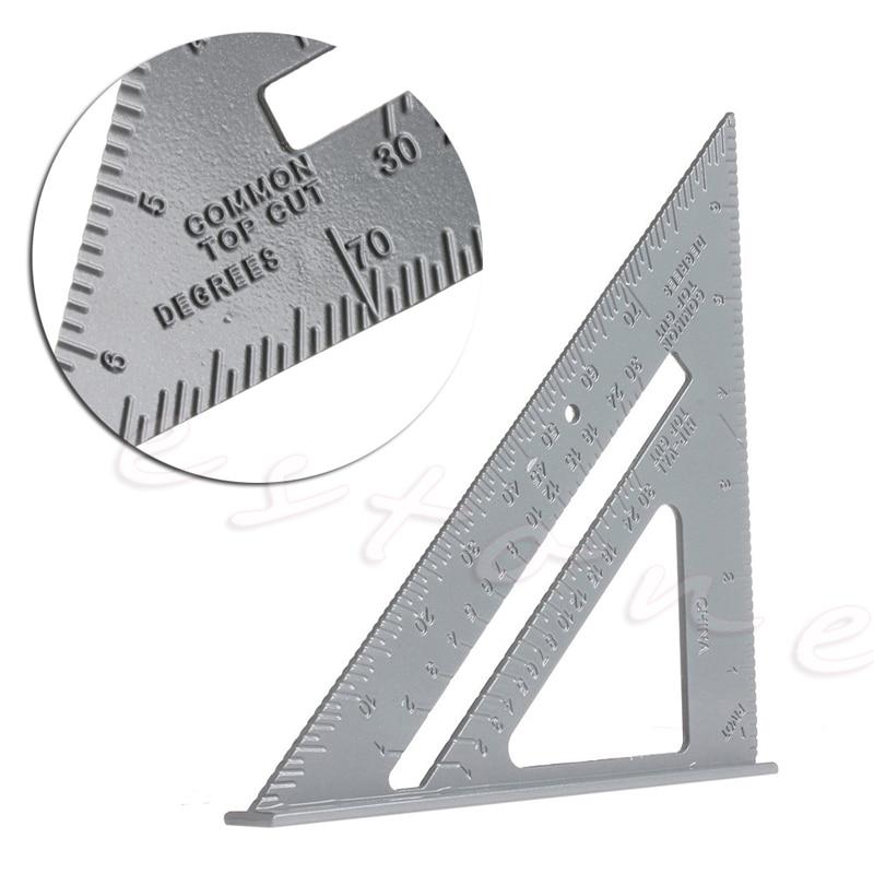 Speed Square Protractor Aluminum Alloy Miter Framing Measurement For Carpenter