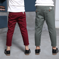 Boys Pants 2018 Spring High Quality Teenage Boy Clothing Kids Pants Boy Trousers Children Cotton Clothes