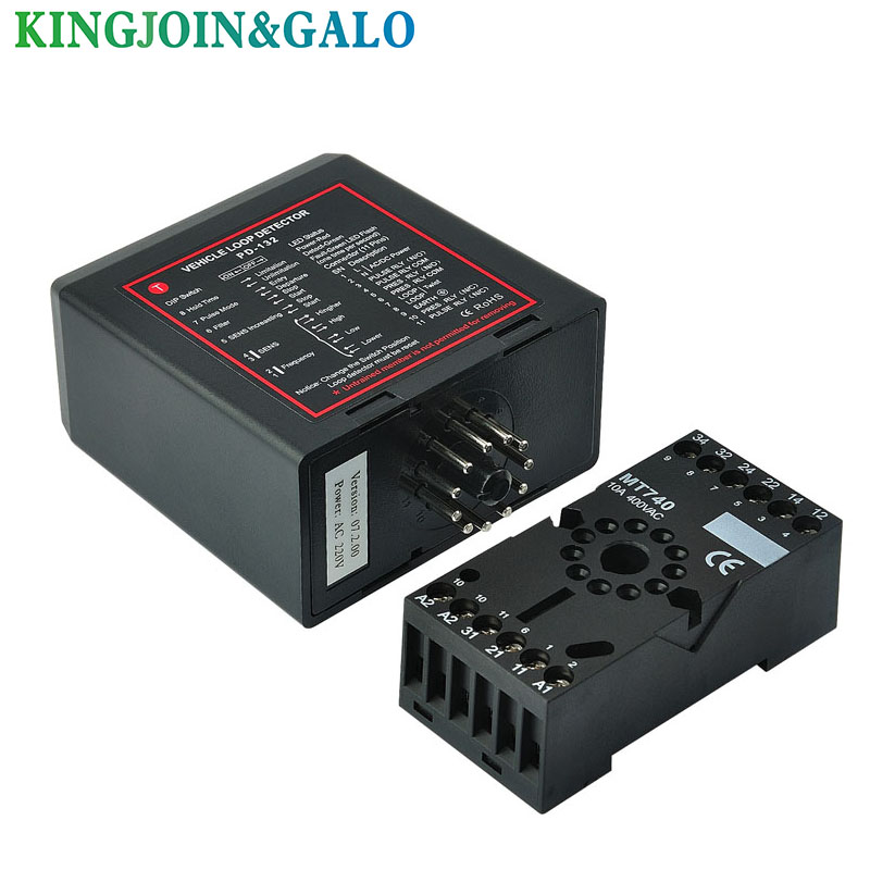single channel inductive vehicle loop detector controller module for BFT CAME NICE barrier gate opener motor lpsecurity 100m cable single channel inductive vehicle loop detector for mightymule faac bft came nice gate barrier operators