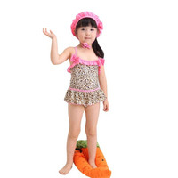 snowshine3 #3003 New Baby Girls Bath Suit Kids Leopard Print Swimsuit Bikini