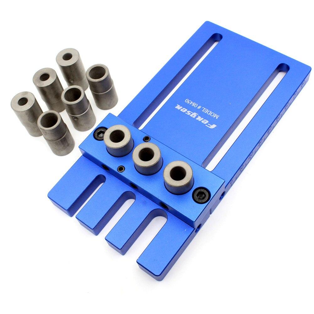FAI DA TE Del Legno Tassello di Falegnameria Jigs Kit 3in1 localizzatore di Perforazione Perforazione Guida Tools Kit - 2
