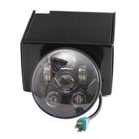 Motos Accessories 5 75 Headlight Motorcycle 5 3 4 Led Headlight For Harley Motorcycle Black Chrome