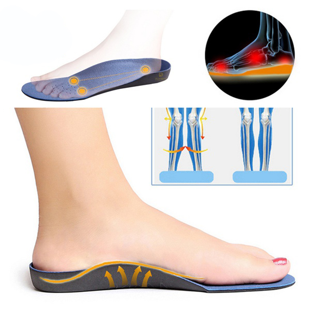 Brand EXPfoot Full length Orthopedic Insole For Flat Foot Health Sole Pad Shoes Semi-Rigid Arch Support Cushion 014 expfoot orthotic arch support shoe pad orthopedic insoles pu insoles for shoes breathable foot pads massage sport insole 045