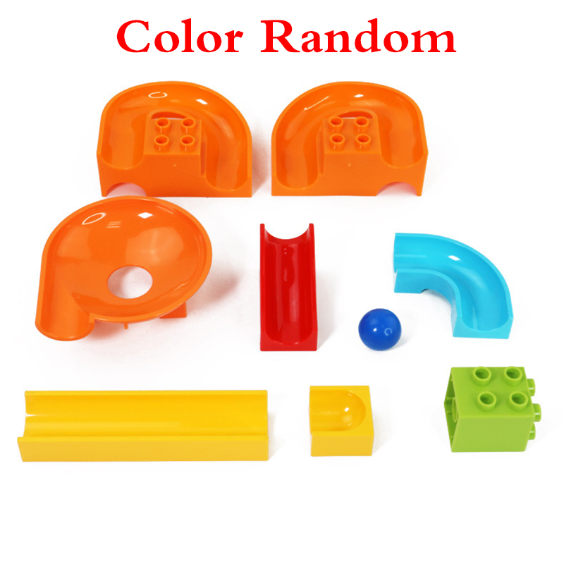 32Pcslot LegoINGly Duplo Building Block Wall BasePlate Designer Marble Race Run Blocks Educational Toys For Kids Christmas Gifts (3)