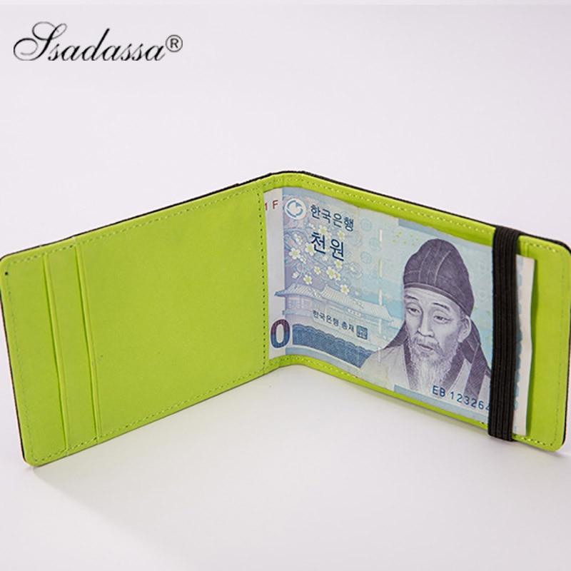 Koreanska Pengar Clip Wallet Elastic vintage plånbok mode nya 2018 - Plånböcker - Foto 2