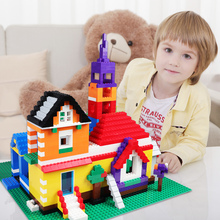 2016 Brand New Rainbow 1000 Pcs Building Blocks DIY Creative Bricks Toys For Children Educational Compatible with Legeod Bricks цена