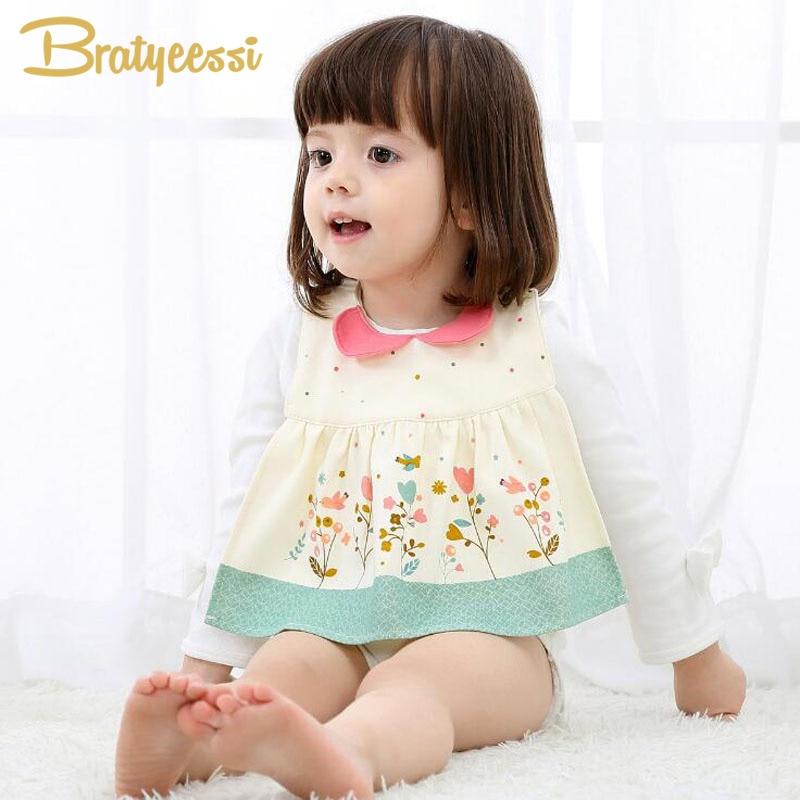 Uus magus puuvillane beebi bandana rinnatükiga lill Prindi lapsed Baberos Bebes veekindlad beebi vutid tüdrukutele Snap Fastener