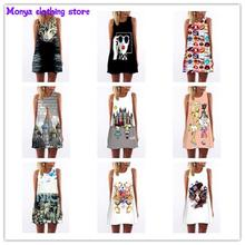 2016 new summer printed o-neck novel women's dress Clothes For Pregnant Women Maternity Dresses(S-XL)Monya High quality clothing