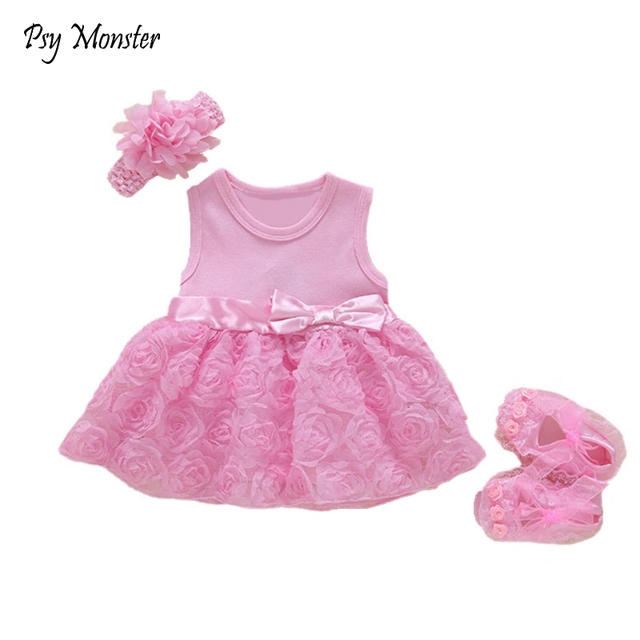 8747d8febca2 New Born Baby Girls Infant Dress clothes Kids Party Birthday Outfits ...