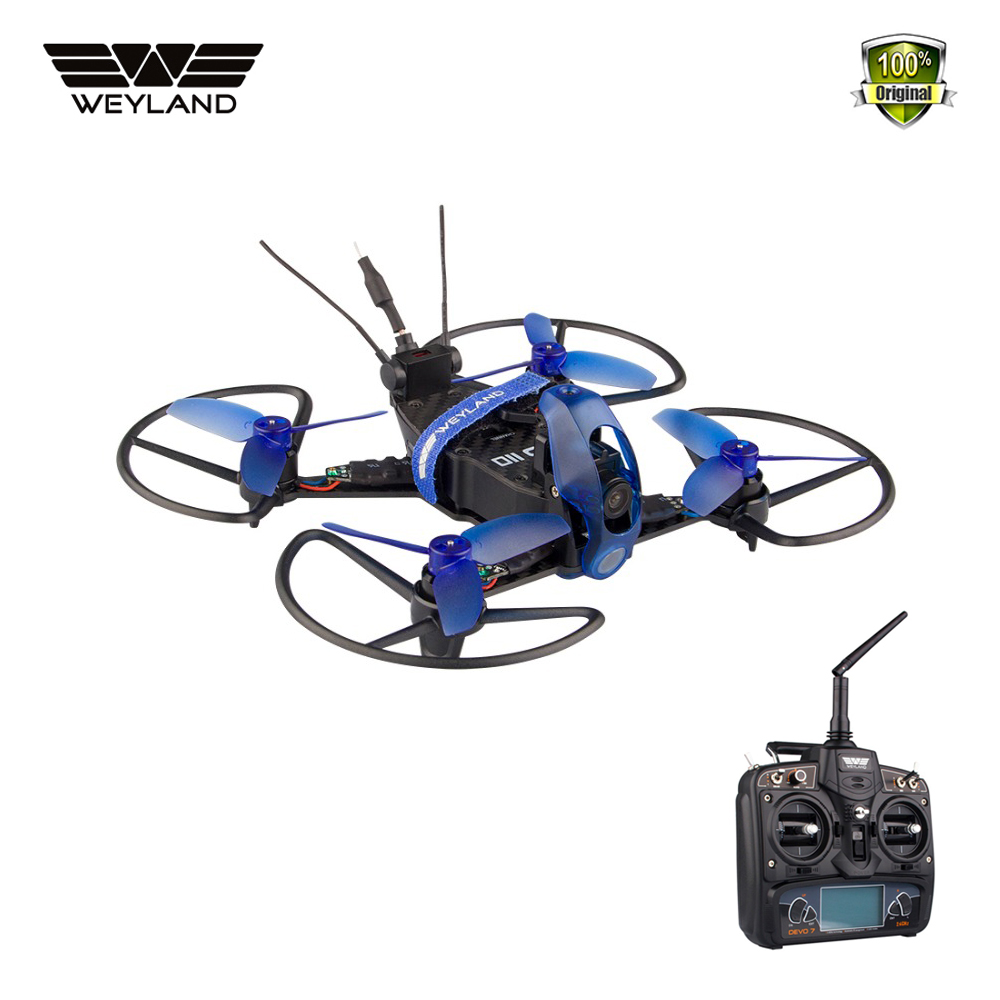 Weyland Rodeo 110 Mini Racing Drone with camera F3 6000KV brushless motor 5.8G 48CH 600TVL fpv Camera RC Quadcopter FPV Kit drone with camera rc plane qav 250 carbon frame f3 flight controller emax rs2205 2300kv motor fiber mini quadcopter