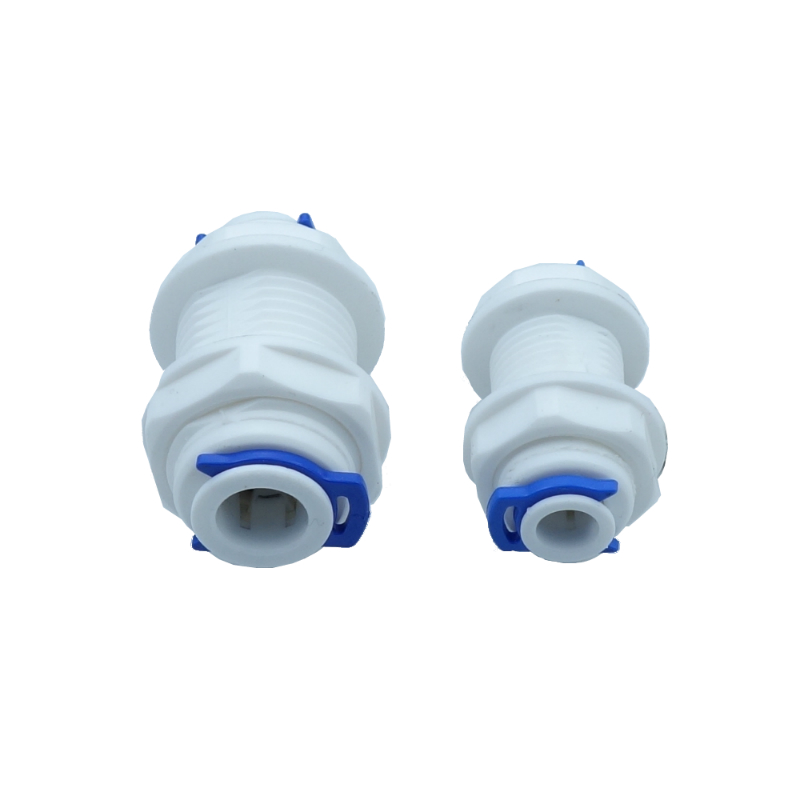 1/4 or 3/8(2 different size)  Equal Bulkhead Union Connector Quick Connect RO Water System Reverse Osmosis Aquarium Fitting