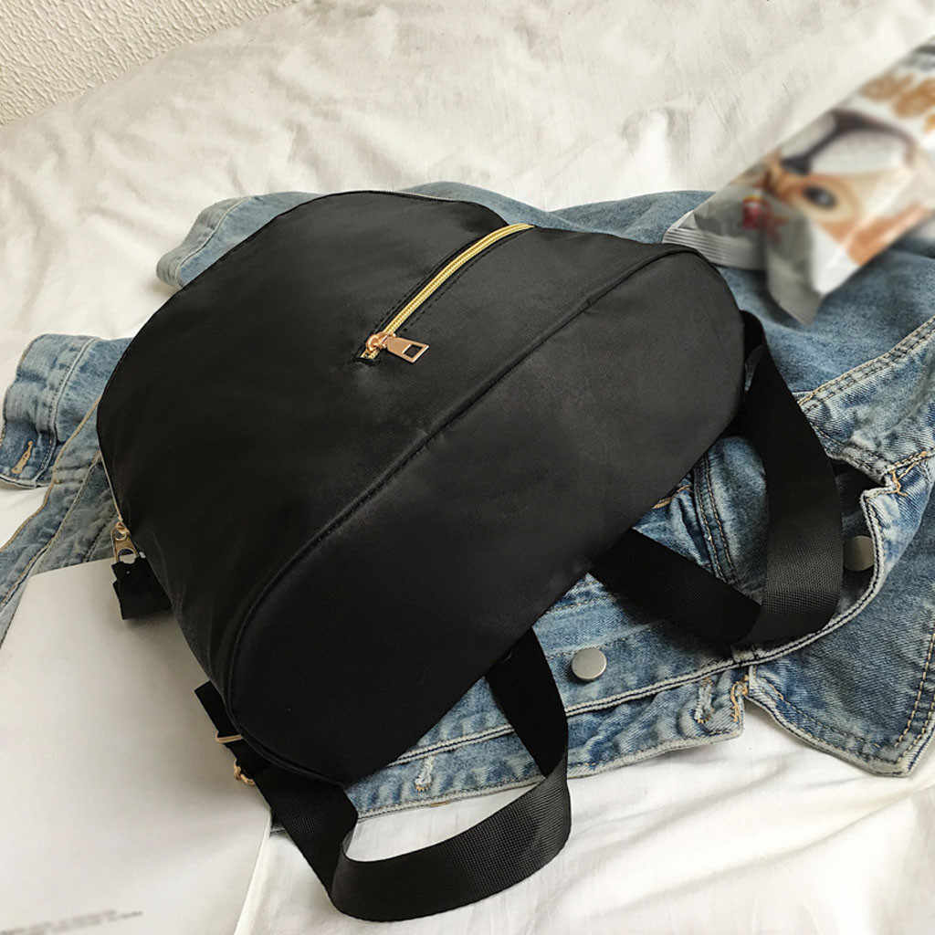 Кошелек клатч Модные женские нейлоновые водонепроницаемые дикие классические повседневные Рюкзак Студенческая сумка bolsos mujer de marca famosa 2019 #59