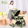 2016 Moda Dobrável Bebê Carrinho De Criança, Bugg Alta Paisagem Carrinho de Bebê portátil, Absorvedores de Choque de quatro rodas, Two-way Carrinho de Bebé